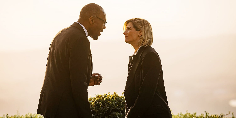 Lenny Henry i Jodie Whittaker w Spyfall