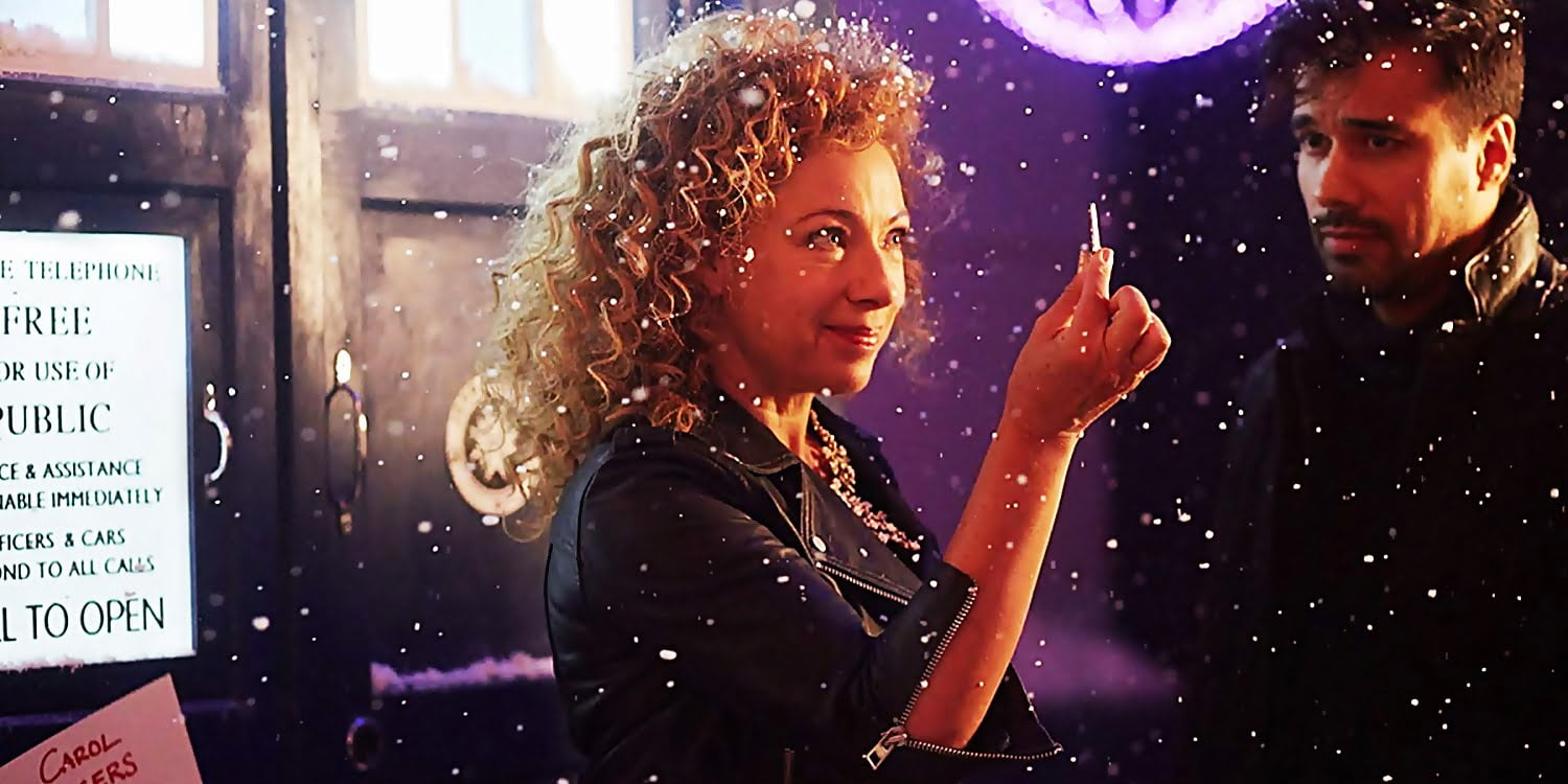 River Song z kluczem do TARDIS w śniegu, The Husbands of River Song