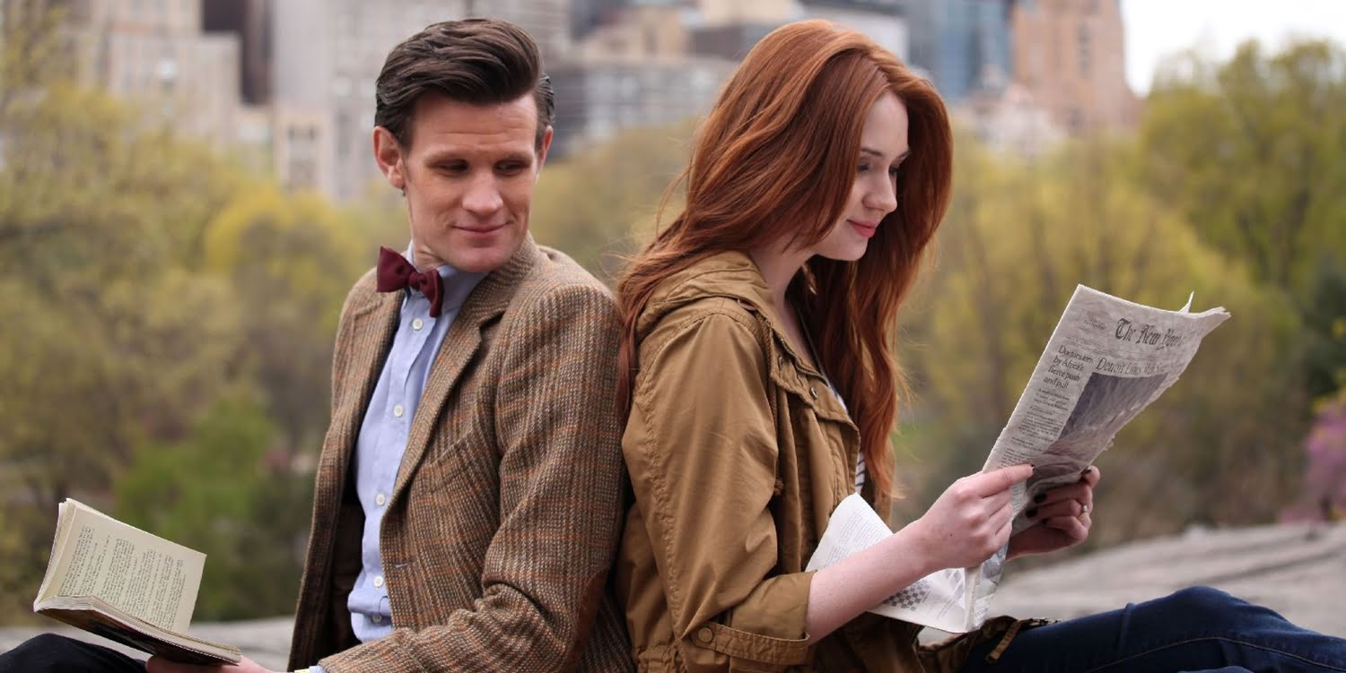 Matt Smith jako Jedenasty i Karen Gillian jako Amelia Pond, Angels on Manhattan