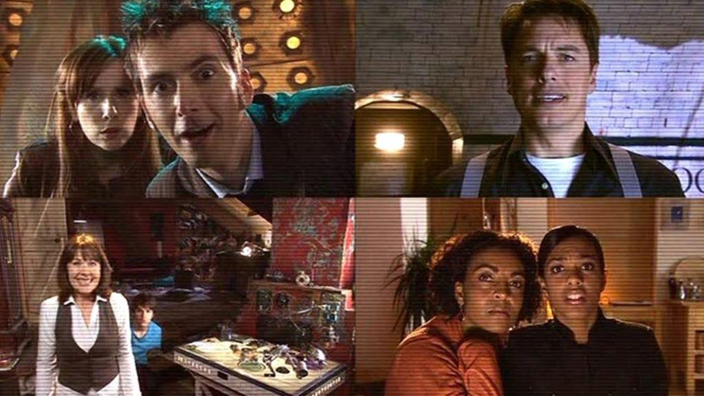 Catherine Tate jako Donna Noble, David Tennant jako Dziesiąty Doktor, John Barrowman jako Jack Harkness, Elisabeth Sladen jako Sarah Jane Smith, Freema Agyeman jako Martha Jones, The Stolen Earth