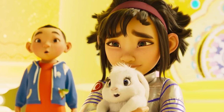 Fei Fei jej królik i brat Chin w królestwie Chang'e, Over The Moon.