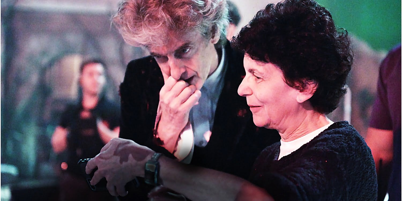 Reżyserka Rachel Talalay i Peter Capaldi na planie Doctor Who