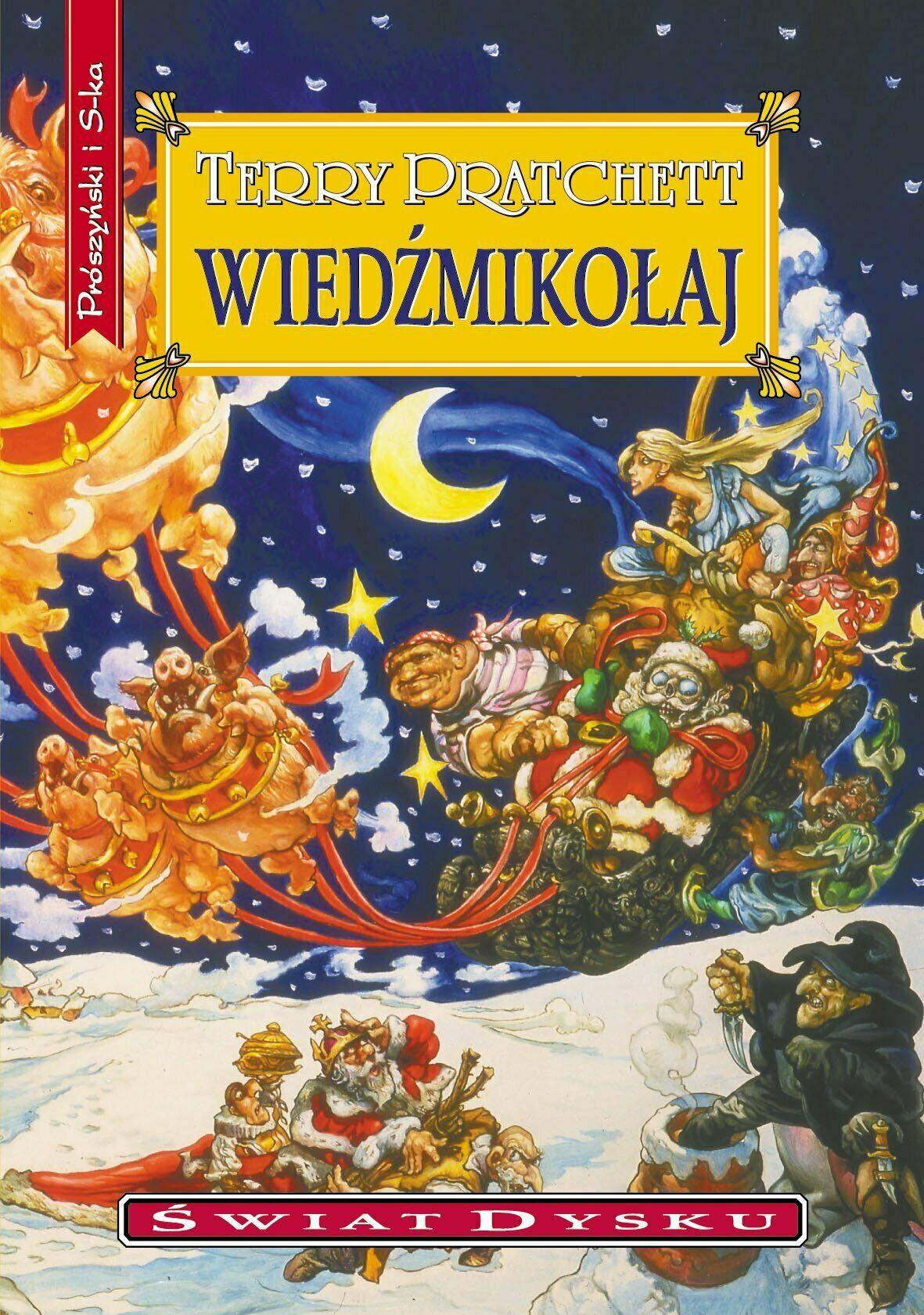 Okładka powieści Wiedźmikołaj. Autor: Terry Pratchett