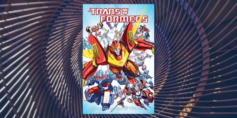 Okładka komiksu z franczyzy Transformers More than Meets the Eye